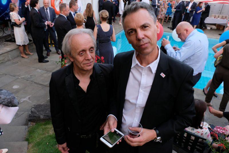 Tomasz Zeliszewski z Tomkiem Dereszyńskim, dziennikarzem prowadzącym MUZOtok