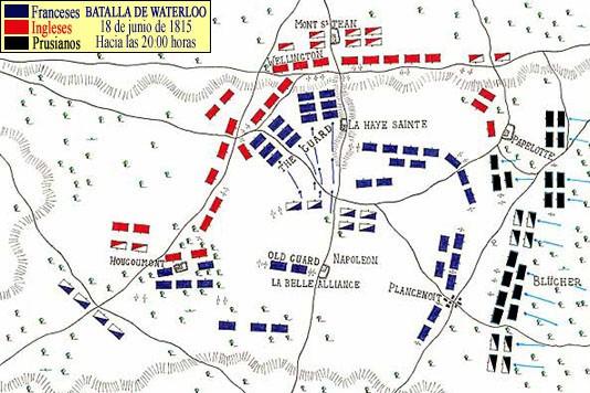 Plan bitwy pod Waterloo